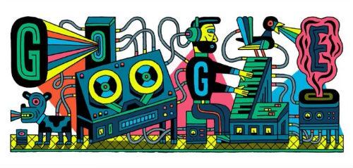 Doodle de Google Celebrado el aniversario del estudio de musica electronica