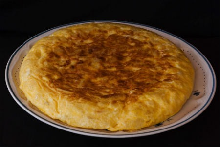 Tortilla de patatas gastronomía española