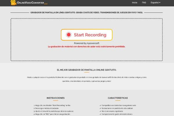 Grabación de vídeos en línea