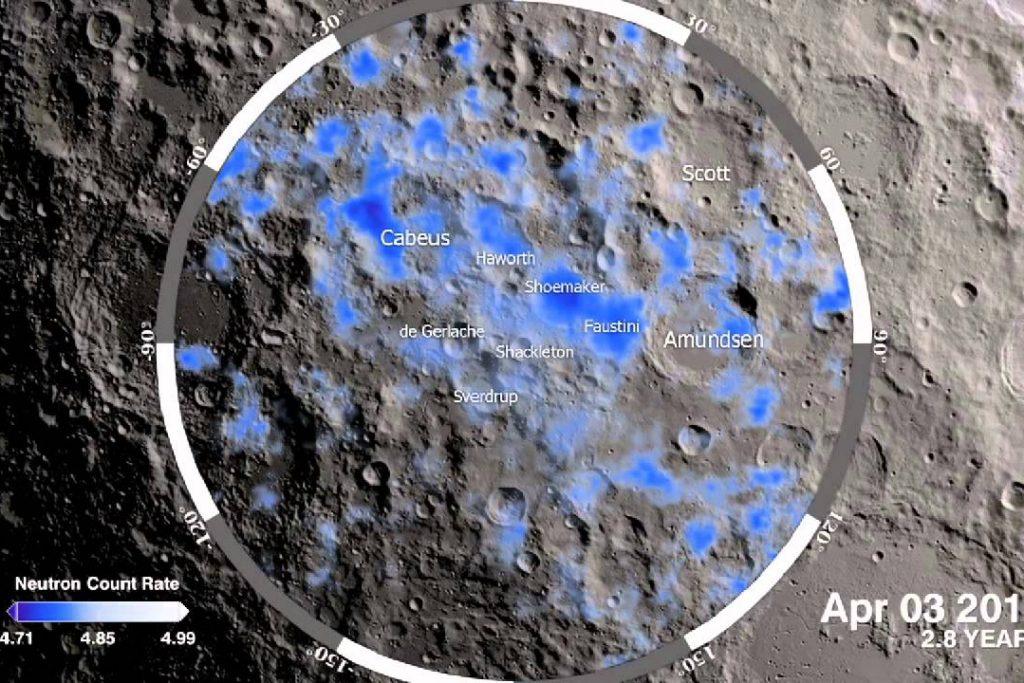 Nasa agua Luna